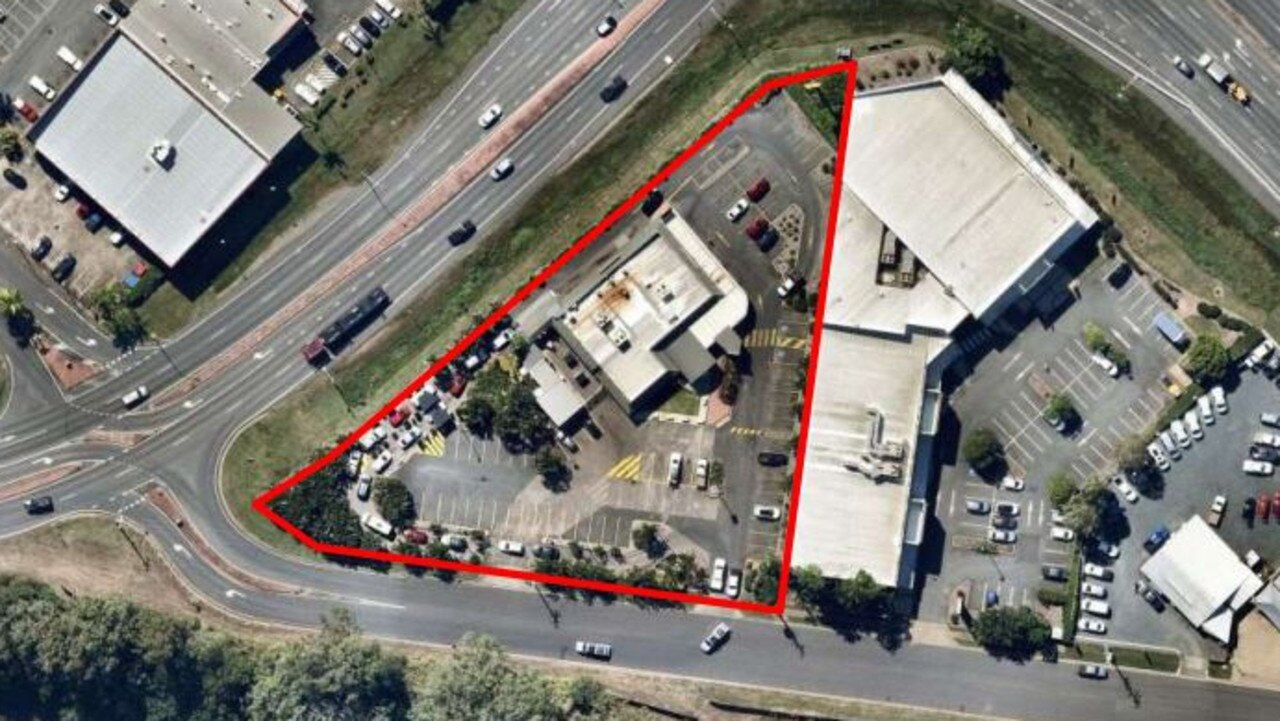 An aerial view of the Mount Pleasant McDonald's store. Picture: Urbis, submitted to Mackay Regional Council.