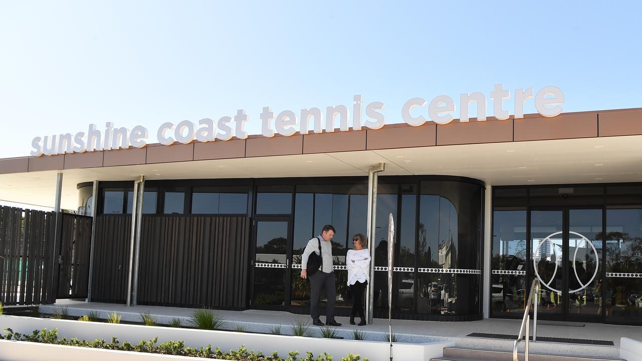 Grand opening of Caloundra Tennis Centre upgrades. Photo Patrick Woods / Sunshine Coast Daily.