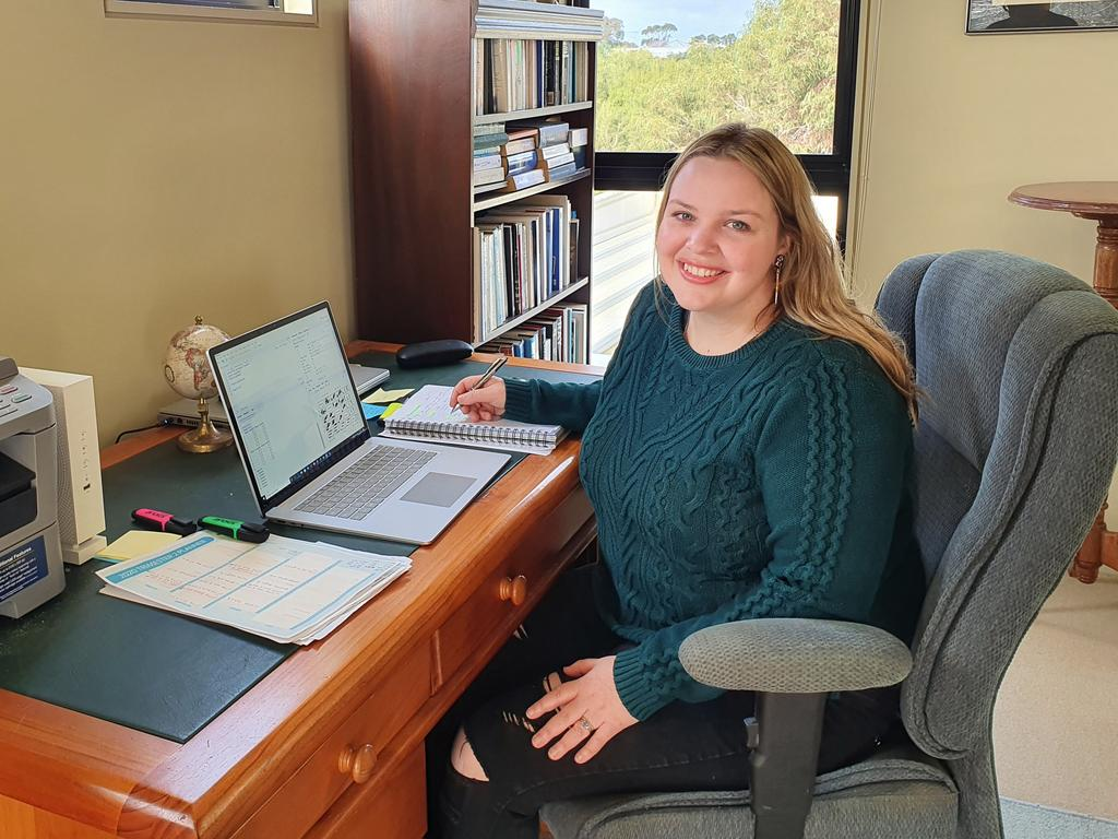 Danni Patterson was out of work after COVID-19 hit so enrolled in a Graduate Certificate of Data Analytics. Picture: Supplied