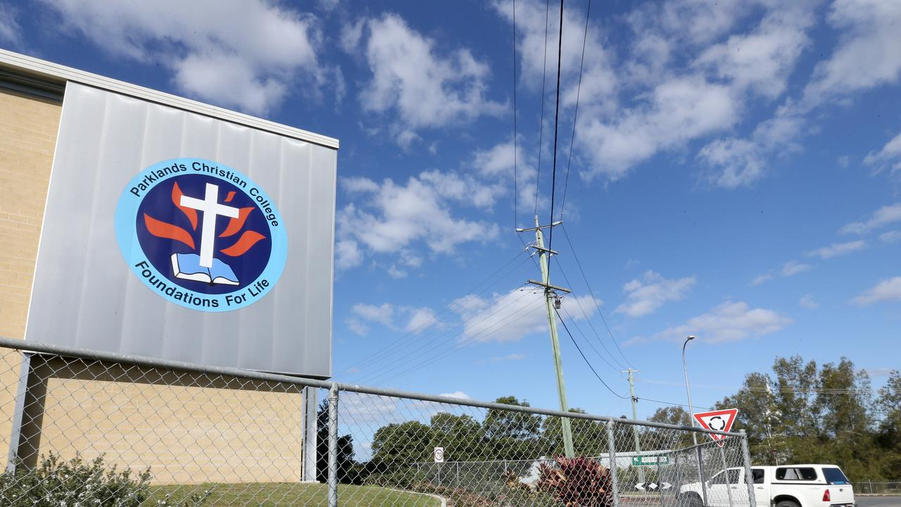 Parklands Christian College in Park Ridge has been closed since Wednesday of last week, after a school cleaner tested positive for COVID-19. Picture: Steve Pohlner
