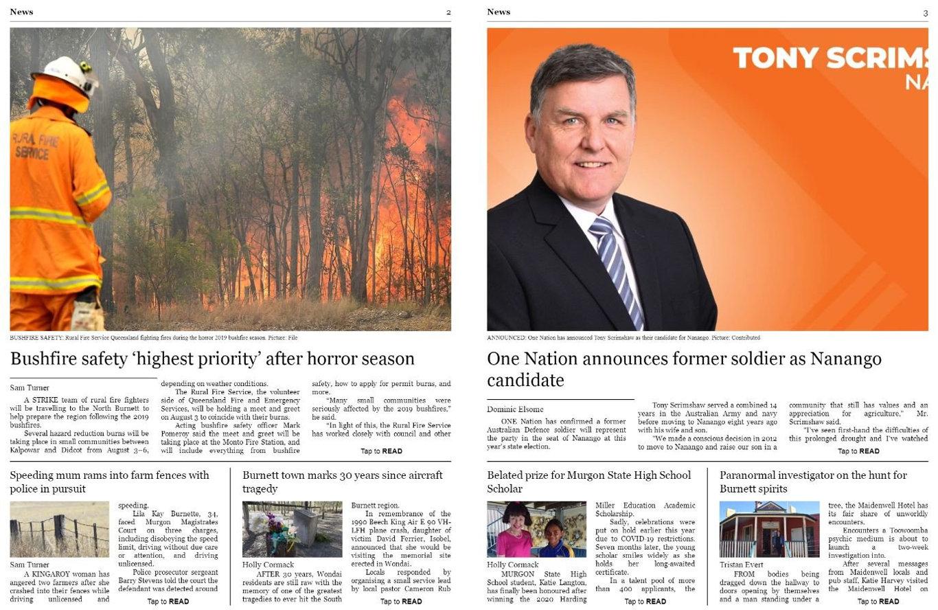 South Burnett Times' brand new digital edition.