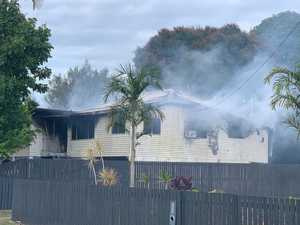 Multiple crews fight to save Sarina home