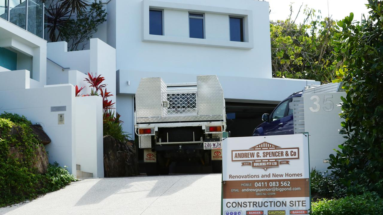 Tradies at Karl Stefanovic's beachside getaway at Sunshine Beach.