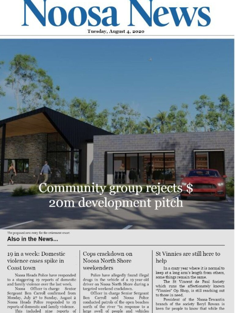 The digital edition is an extension of the Noosa News website