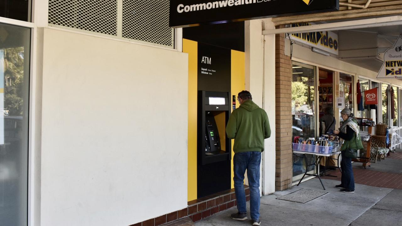 To the loss of the Commonwealth Bank branch, the Brunswick Heads community will add the loss of the last bank's ATM in the village.