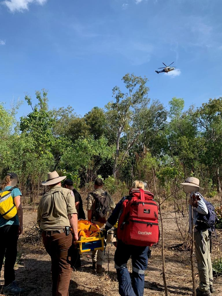 A woman was winched out of Litchfield National Park after being bitten twice by a snake. Picture: CareFlight