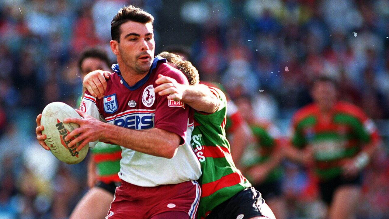 Danny Moore playing for Manly in 1994.