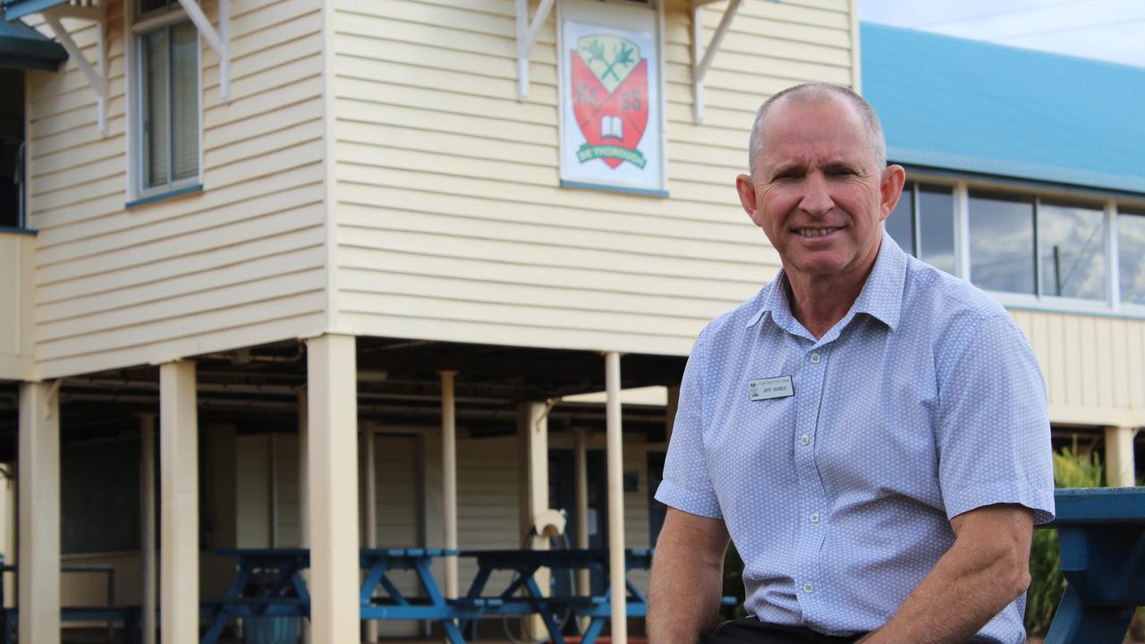 Kolan South State School principal Jeff Searle is celebrating 25 years as principal this year.