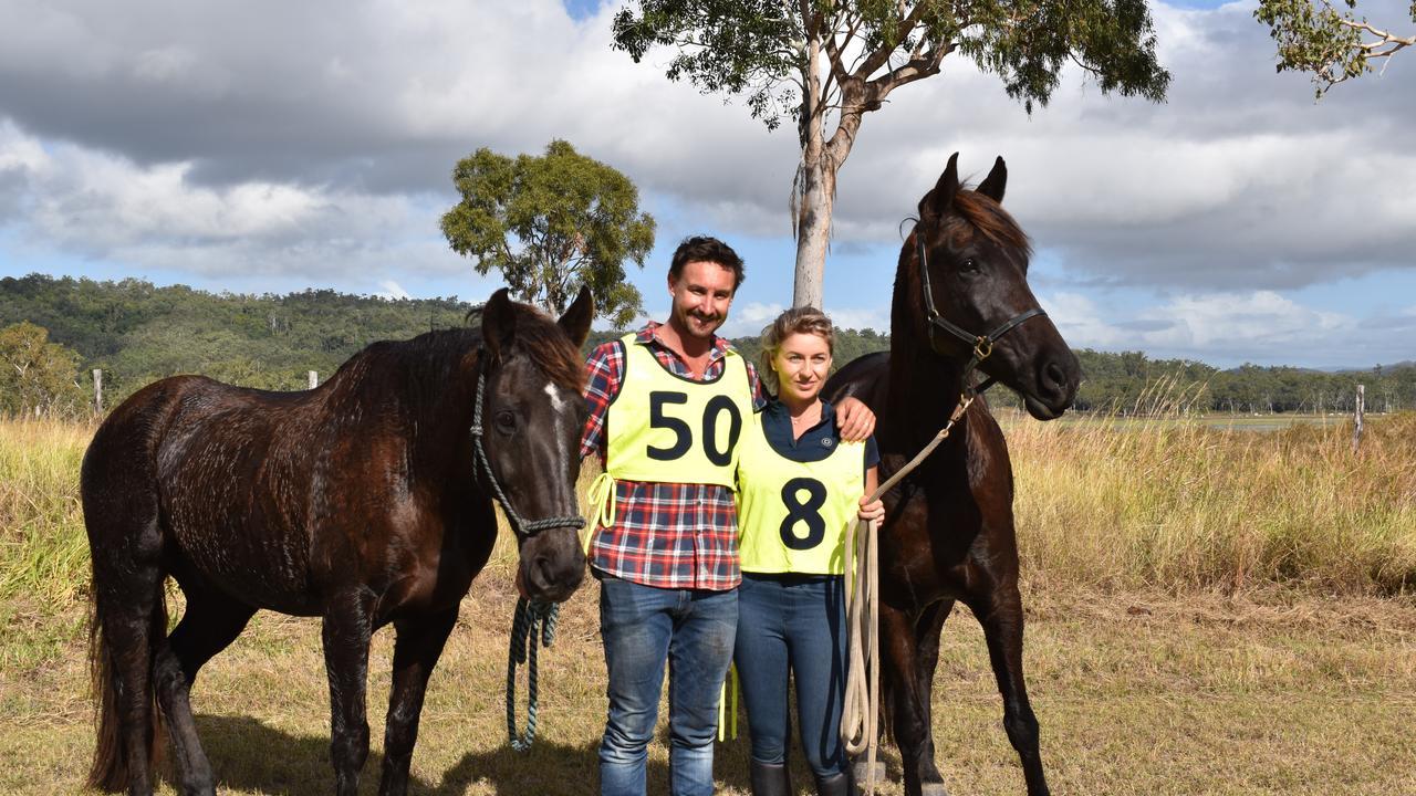 Tim Tristram and Liana Tristram, from Victoria Plains. Pure Endurance ride at Kinchant Dam. Photo: Rae Wilson