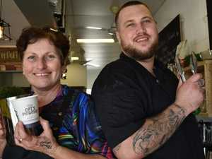 Mother and son serving up comfort food in pandemic