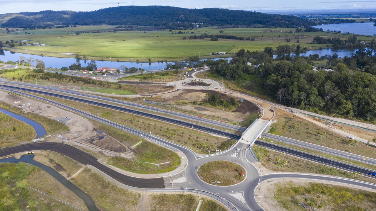 Progress shots of the Maclean Interchange shot in June, will open in the coming weeks.