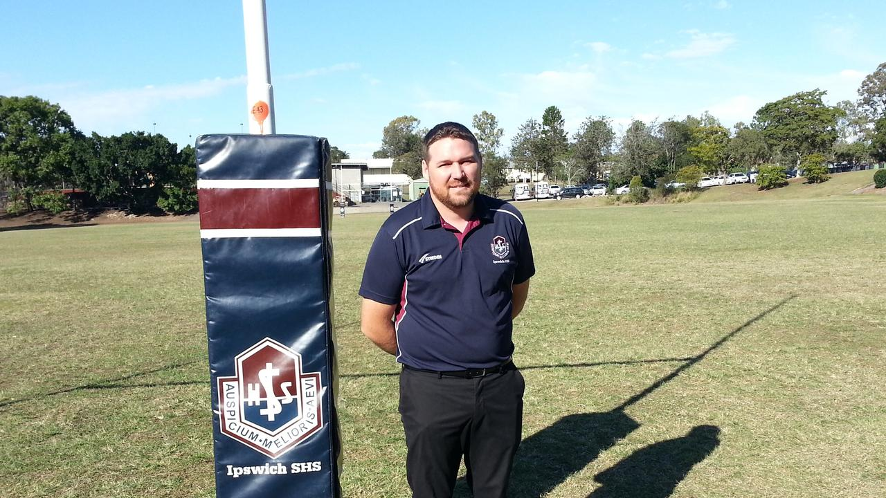 Ipswich State High School rugby league head coach Josh Bretherton. Picture: David Lems