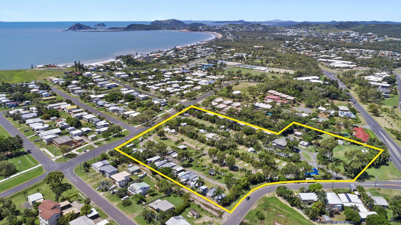 The Poinciana Tourist Park at Cooee Bay has been listed for sale.