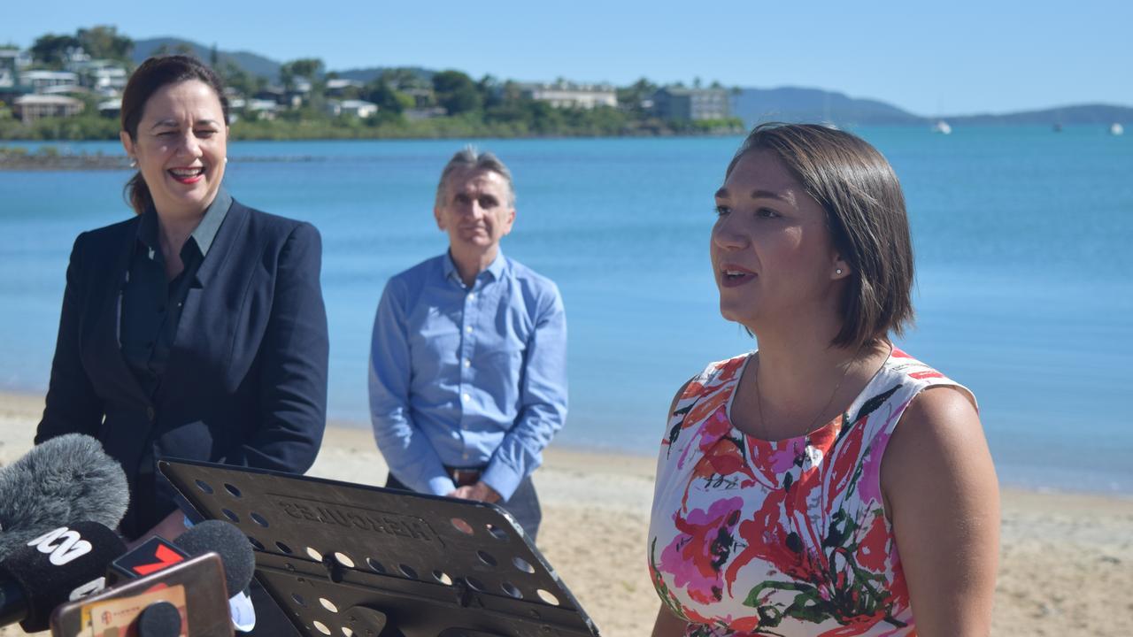 Tourism Whitsundays CEO Tash Wheeler met with Premier Annastacia Palaszczuk earlier this year. Photo: Laura Thomas