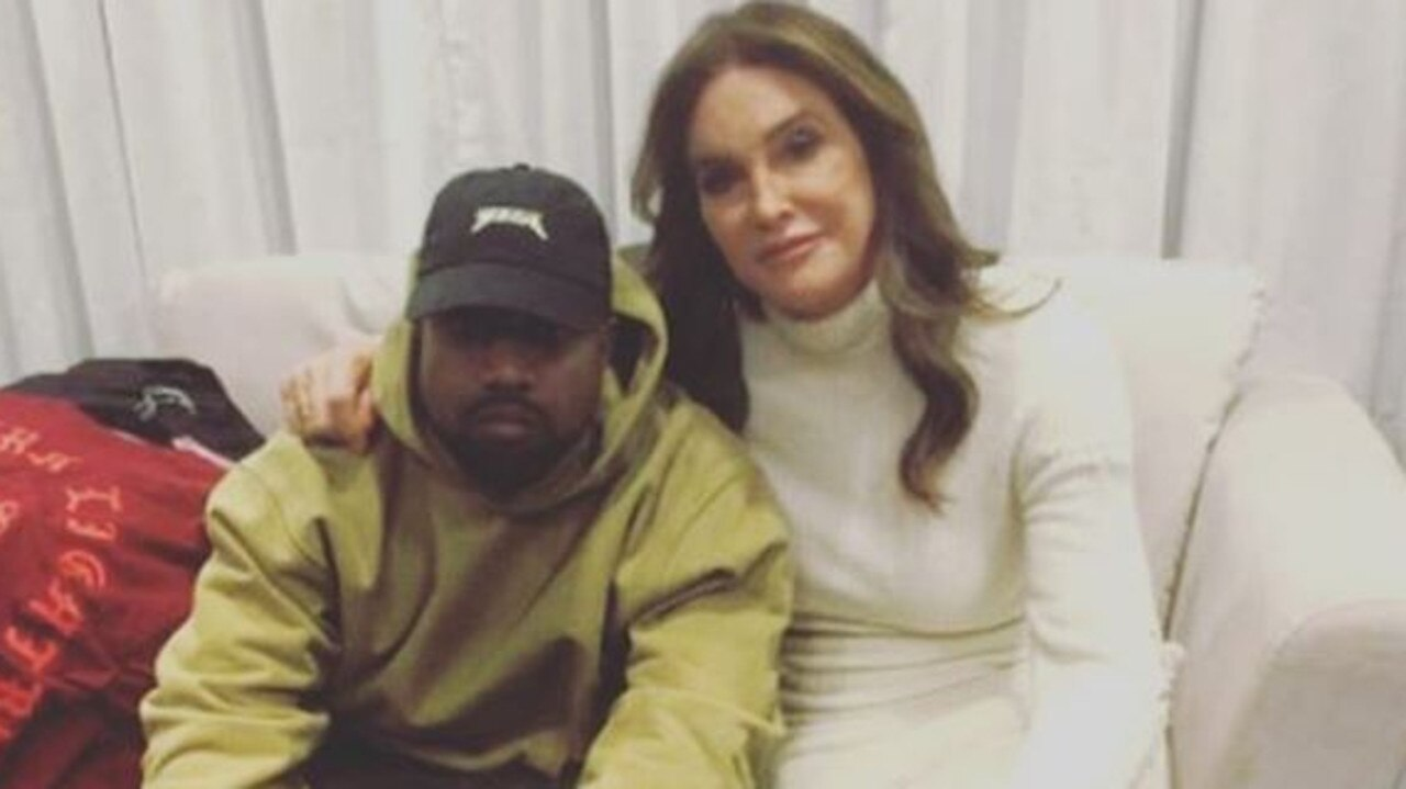 Kanye West and Caitlyn Jenner. Picture: Instagram