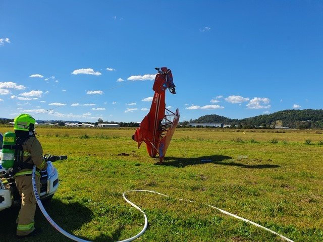 Emergency crews were called to a light plane crash at Lismore Airport.