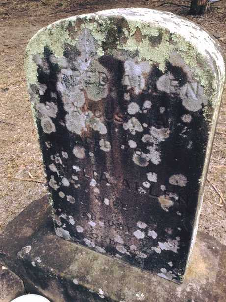 Alfred Allen's headstone in the Quaker section of Rookwood Cemetery. Photo: Noelene Harris