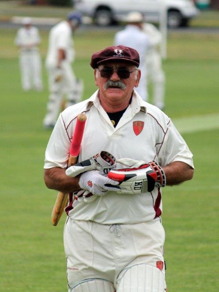 Veteran cricketer Mike Nowlan is an advocate for discussing men's health.