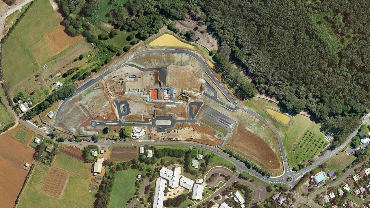 Progress photos of the Tweed Valley Hospital site