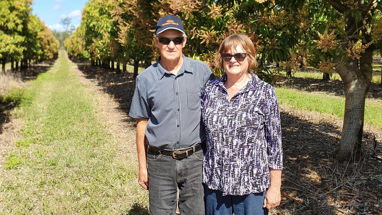 Ian and Gloria Pershouse show off their award-winning crops.