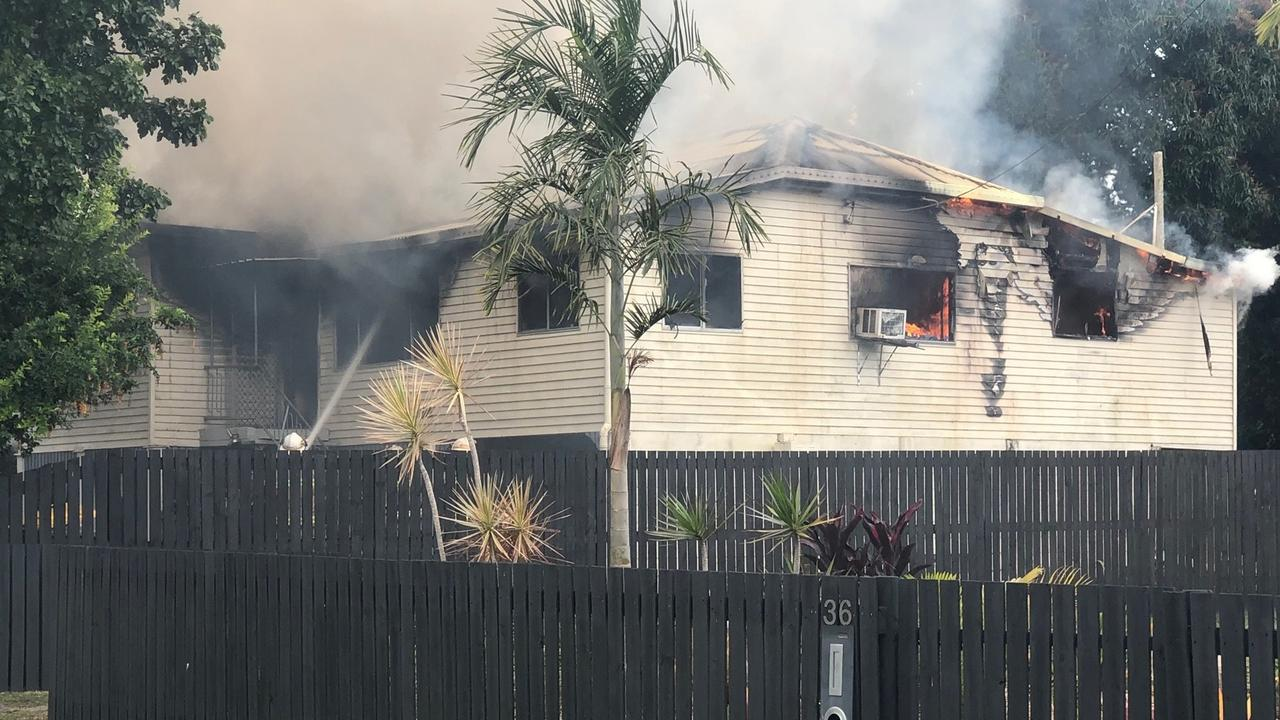 Investigations into the cause of a fire at a Sarina Beach Rd home in Sarina on Tuesday have determined it to be accidental. Photo: Joe Murray