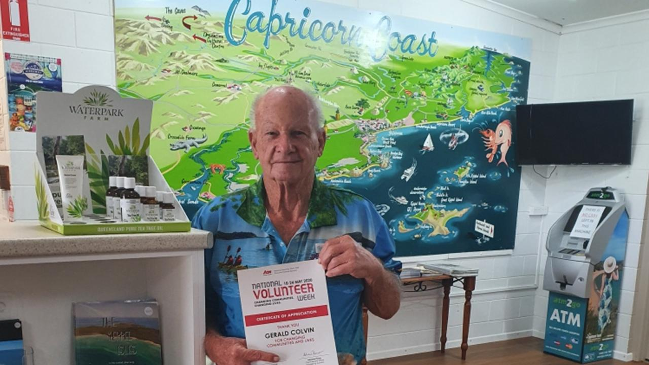 TOURIST HELP: Capricorn Coast Visitor Information Centre volunteer Gerald Colvin is glad to be back at work, providing information and pointing people in the right direction.