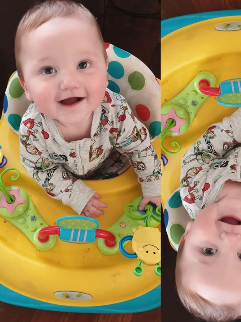 Faye Maree Noah Jade Parkes, 9 months old today. Born October 5th of last year. How can you not smile when you look at his adorable face?
