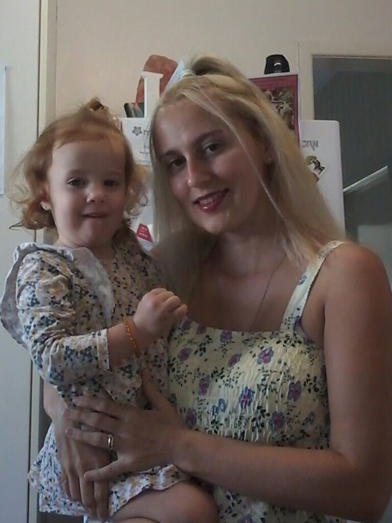 Two-year-old Norah Armstrong was rushed to hospital after her mother Stacey Armstrong found her with an empty bottle of hand sanitiser.