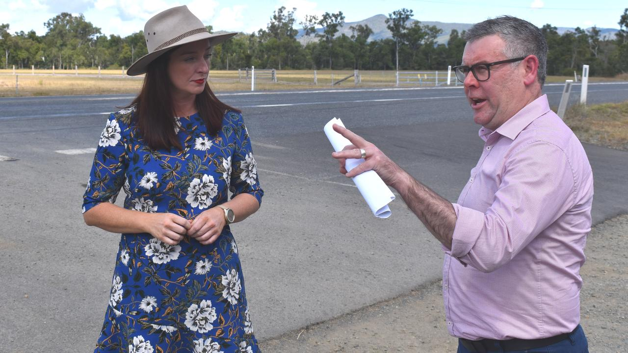 ROAD PROJECT: Keppel MP Brittany Lauga and Queensland Senator Murray Watt inspect the treacherous Rockhampton-Yeppoon Rd. They are calling for an $80 million upgrade to be fast-tracked.