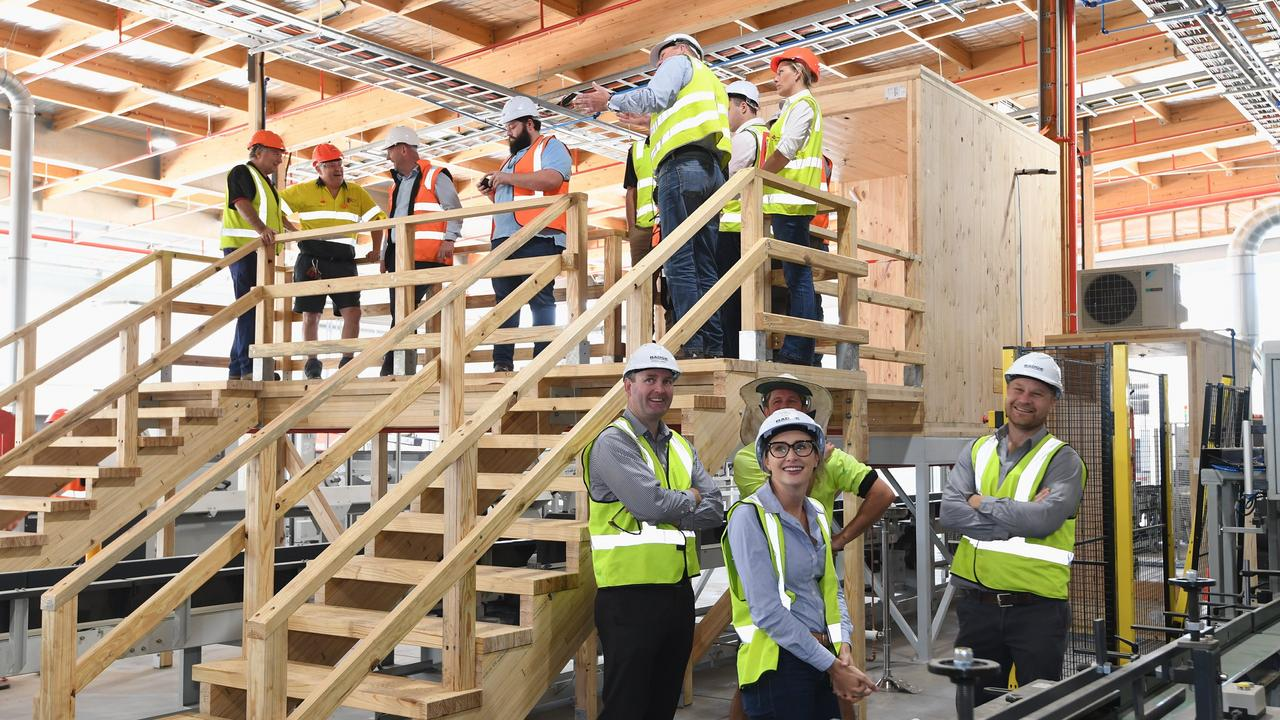 Hyne Timber's new Glue Laminated Timber plant in Maryborough.