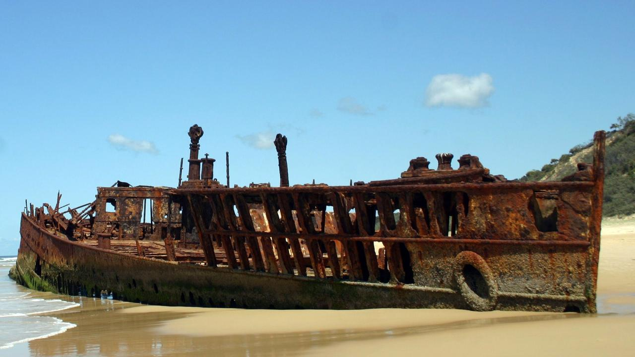 The ageing SS Maheno on Fraser Island.