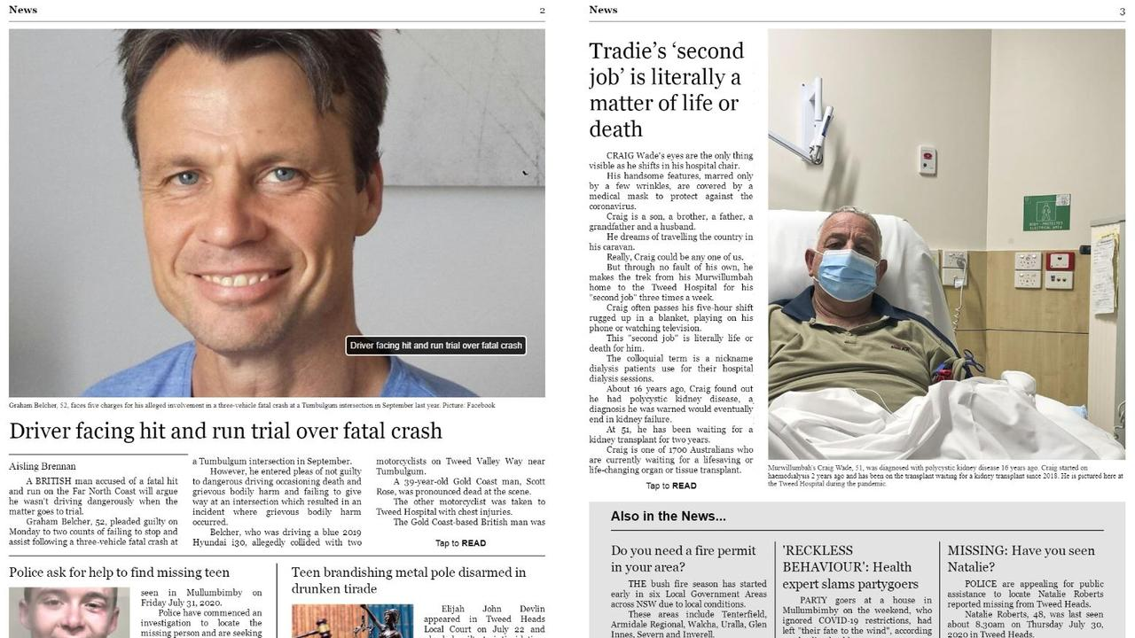 The Tweed Daily News has launched a new digital flip-book for those who miss the old paper format.