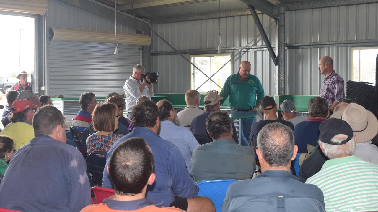 More than 100 Whitsunday canegrowers and industry professionals gathered to hear Green Shirts Movement national co-ordinator Marty Bella speak about standing up against new Queensland reef laws in October 2019.