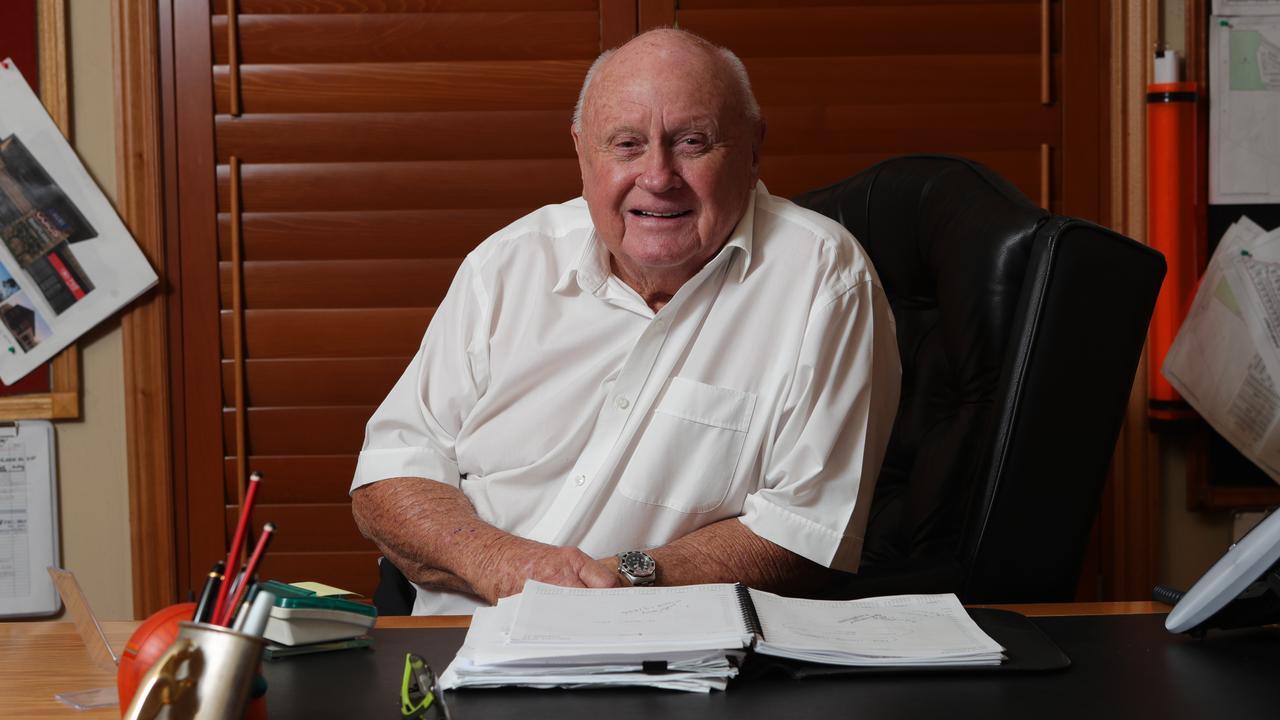 Developer Norm Rix at his Ashmore office. Picture: Glenn Hampson
