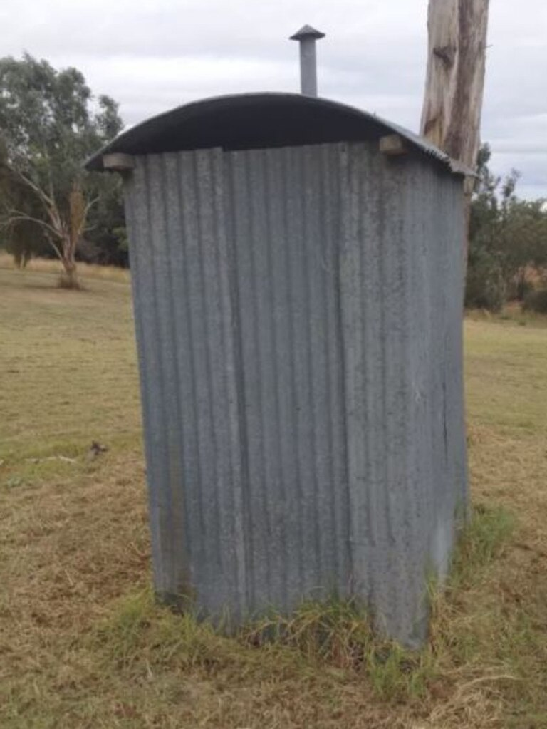 The corrugated iron dummy gives new meaning to poo with a view.
