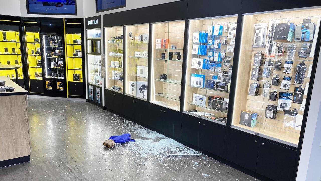 Ram raid occurred at Garrick's Camera House, Maroochydore. Photo: Patrick Woods