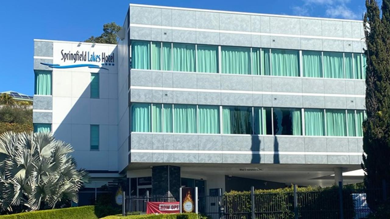 Springfield Lakes Hotel has reportedly been established as a quarantine centre.