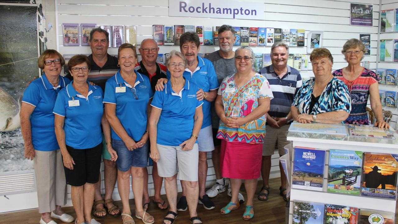TOURISM SUPPORTERS: The volunteers at Rockhampton's Visitor Information Centre are delighted to be back at work assisting visitors to the area. (Taken pre-social distancing)