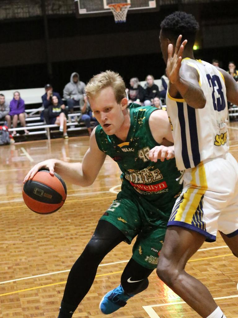Ipswich Force basketballer Mitch Poulain. Picture: Megan Low