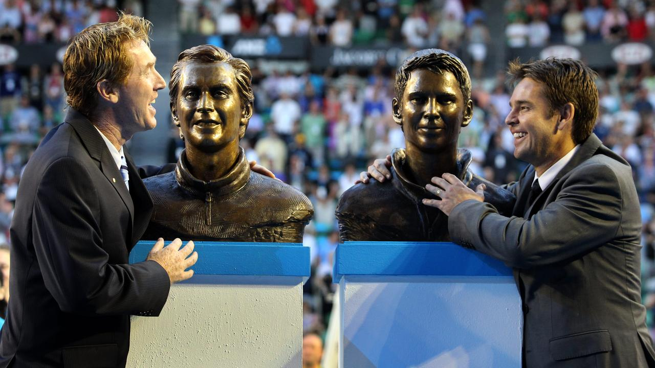 They were inducted into the Tennis Hall of Fame at Rod Laver Arena together in 2010.