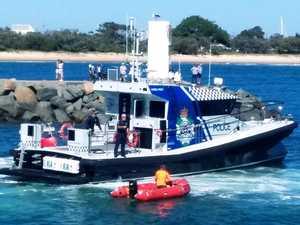 Maritime police on patrol as borders close