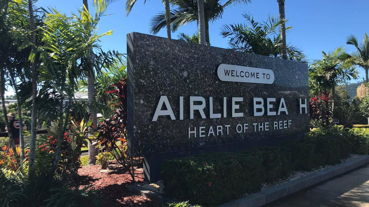The letter 'C' was stolen from the Airlie Beach sign. Picture: Elyse Wurm
