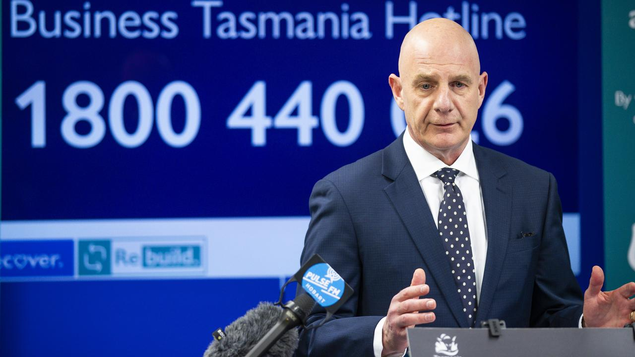 Premier Peter Gutwein has asked Tasmanians not to panic buy despite the worsening state of the pandemic on the mainland. Picture: RICHARD JUPE