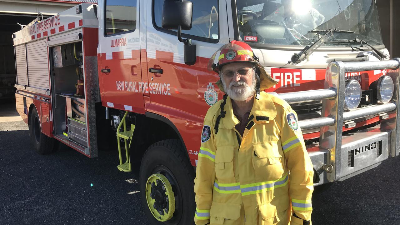 Ulmarra Rural Fire Service captain John Crean with the unit's new fire truck.