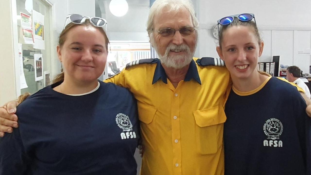 Dayna Wood, John Crean and Laynae Okkonen from the Ulmarra RFS brigade.