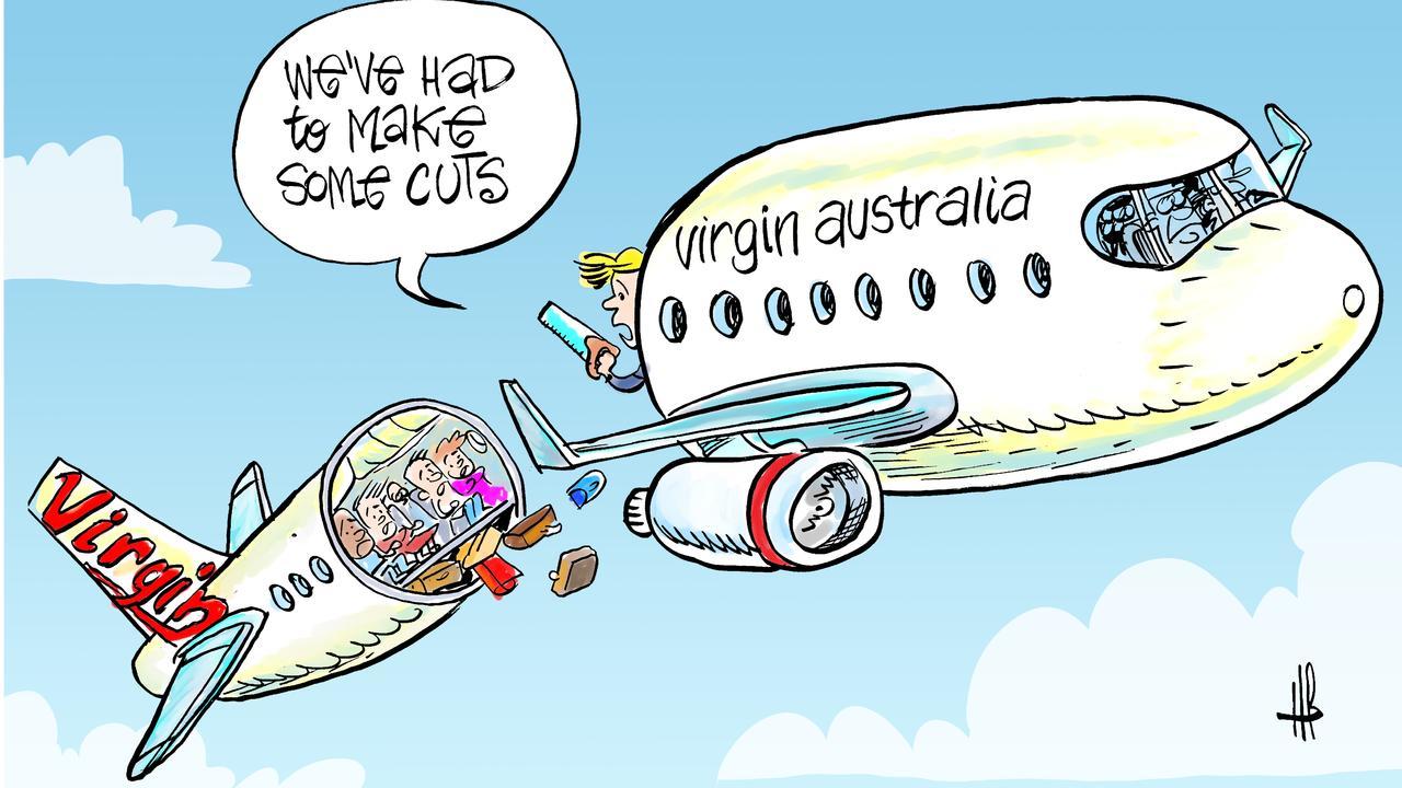 Harry's view on Virgin Australia cuts.