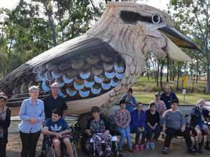 Giant Kookaburra brightens up everyone's day