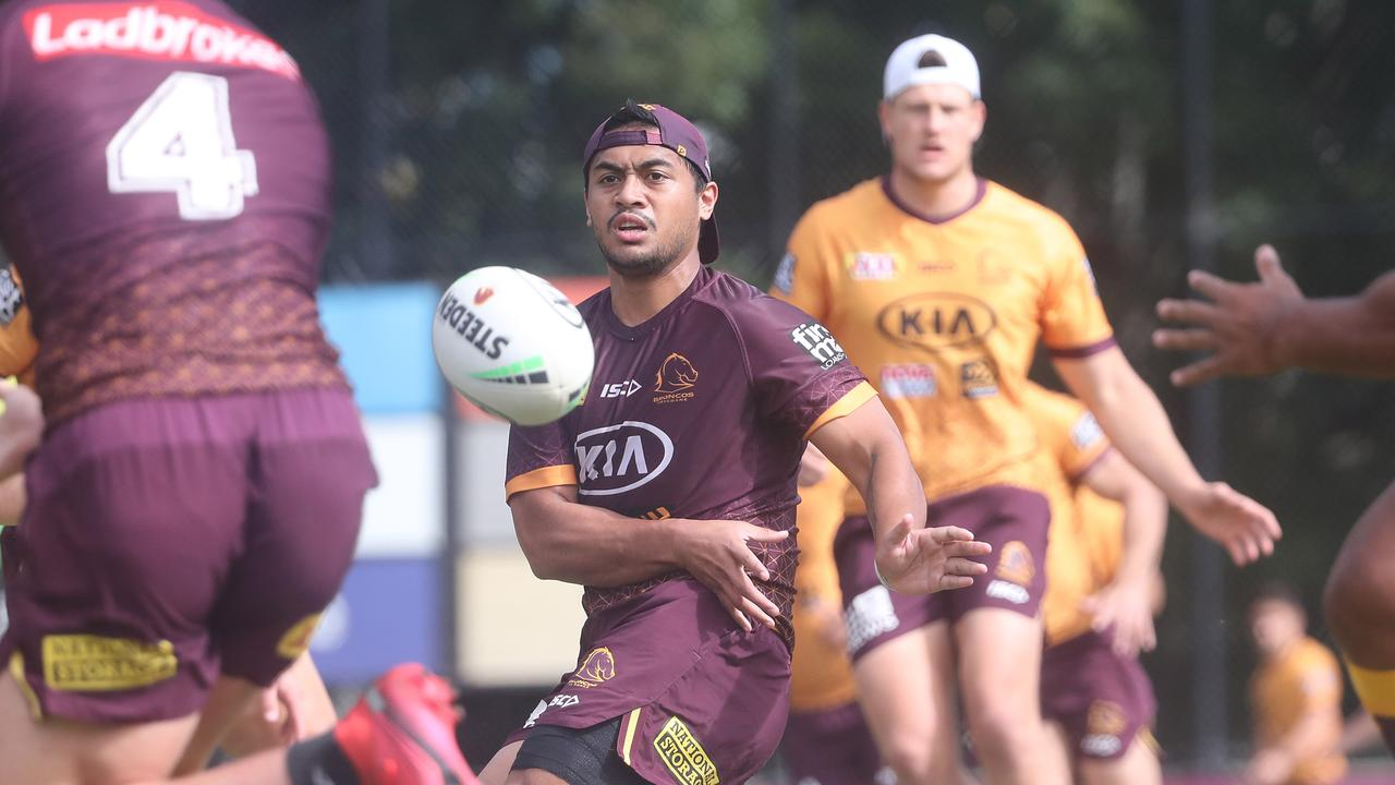 Anthony Milford injured his hammy at training. Picture: Peter Wallis