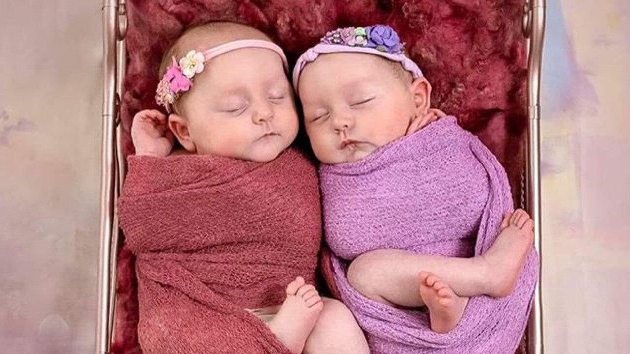 Twins Paige Maree Bannon and Aurora Lee Bannon.
