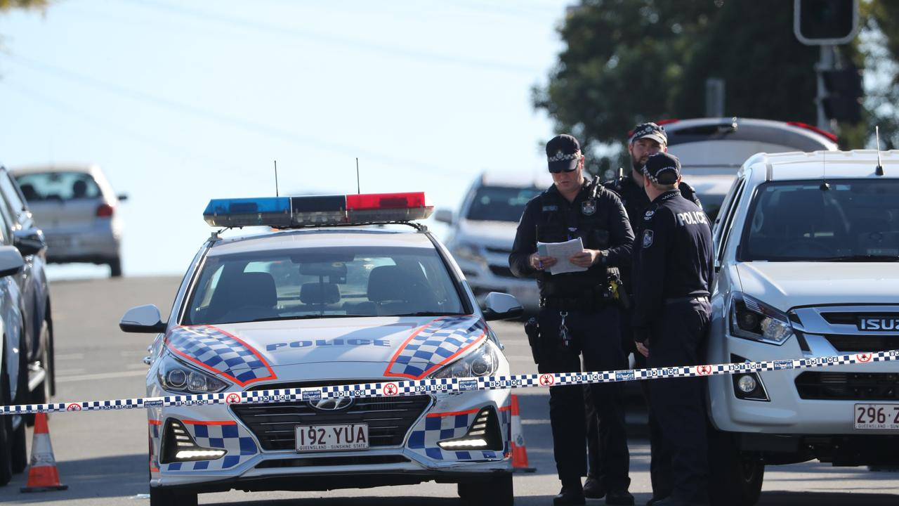 The scene of a police shooting at Mt Gravatt East. Picture: Peter Wallis